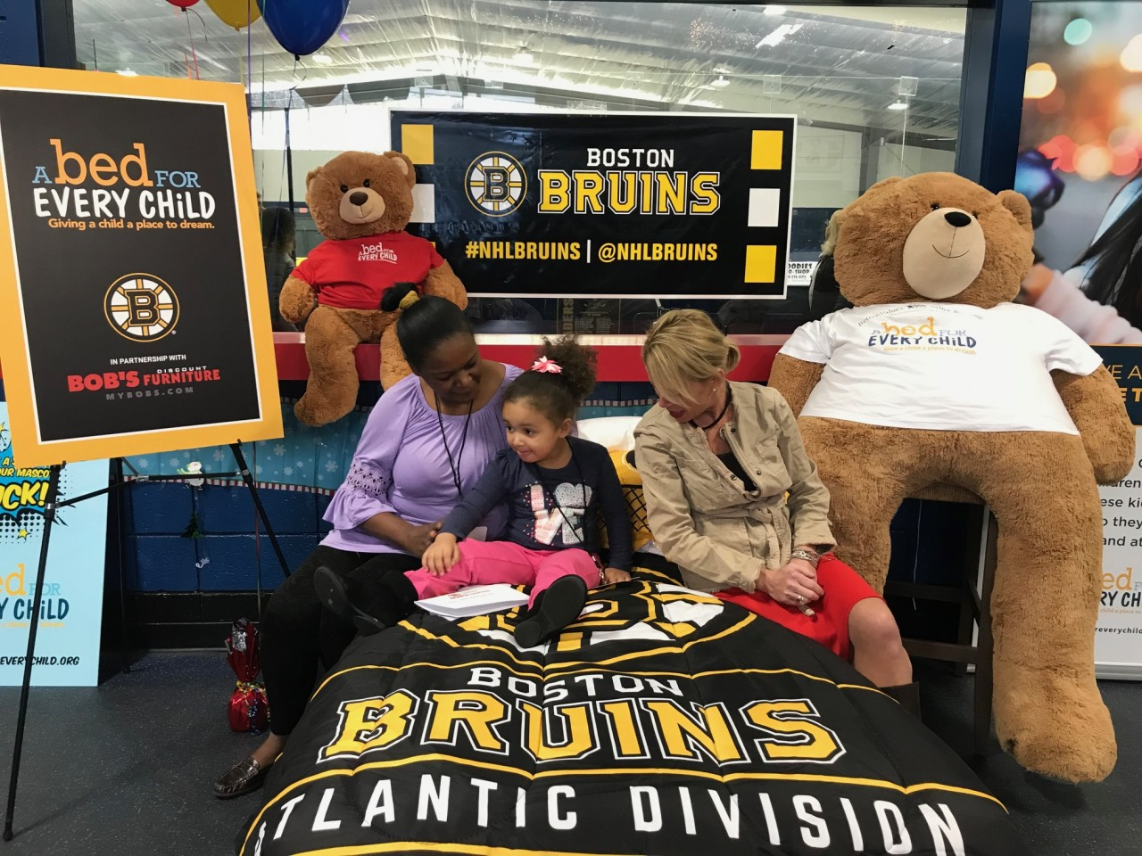 Dreaming Big: Bob's Discount Furniture and the Boston Bruins Partner for A Bed for Every Child