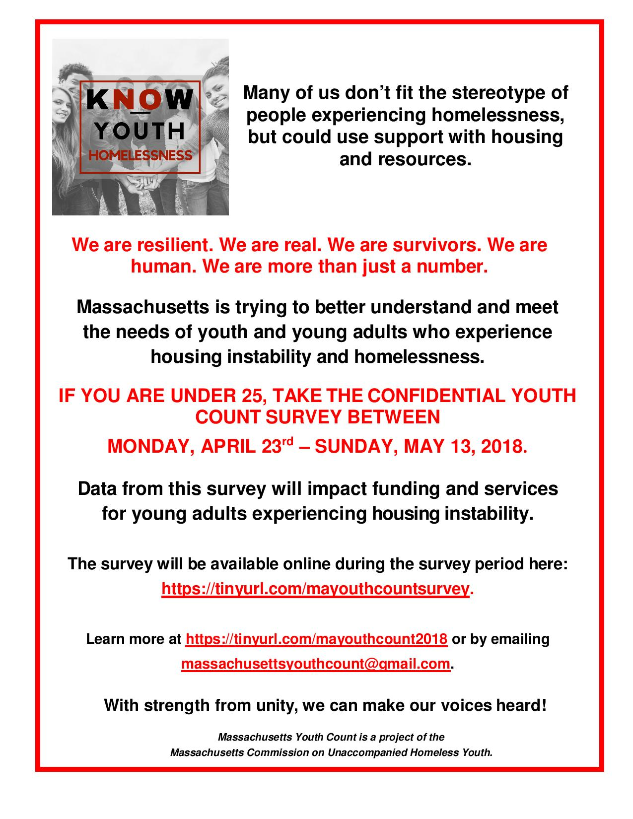 youth count flyer 2018
